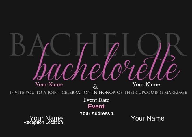 Bachelor and Bachelorette Wedding Invite